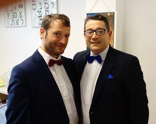 Am 20. August fand im PFL das Kantorenkonzert statt mit Nikola David (r) und Yoed Sorek (l), begleitet von Kirill Kvetniy (piano)
